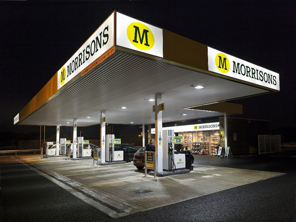 Morrisons Supermarkets install Philips LED lighting solution at Illingworth Petrol Filling Station - the first site in Europe that is 100% lit with LEDs