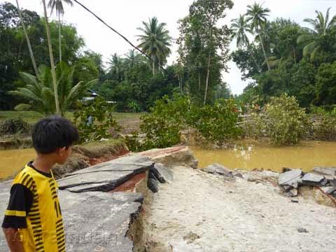 Jalan Terbok - Sungai Pinang Ditutup