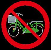 自転車禁止マーク