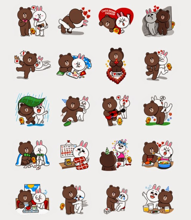 LINE Stickers Community: Free line stickers-Brown & Cony's ...