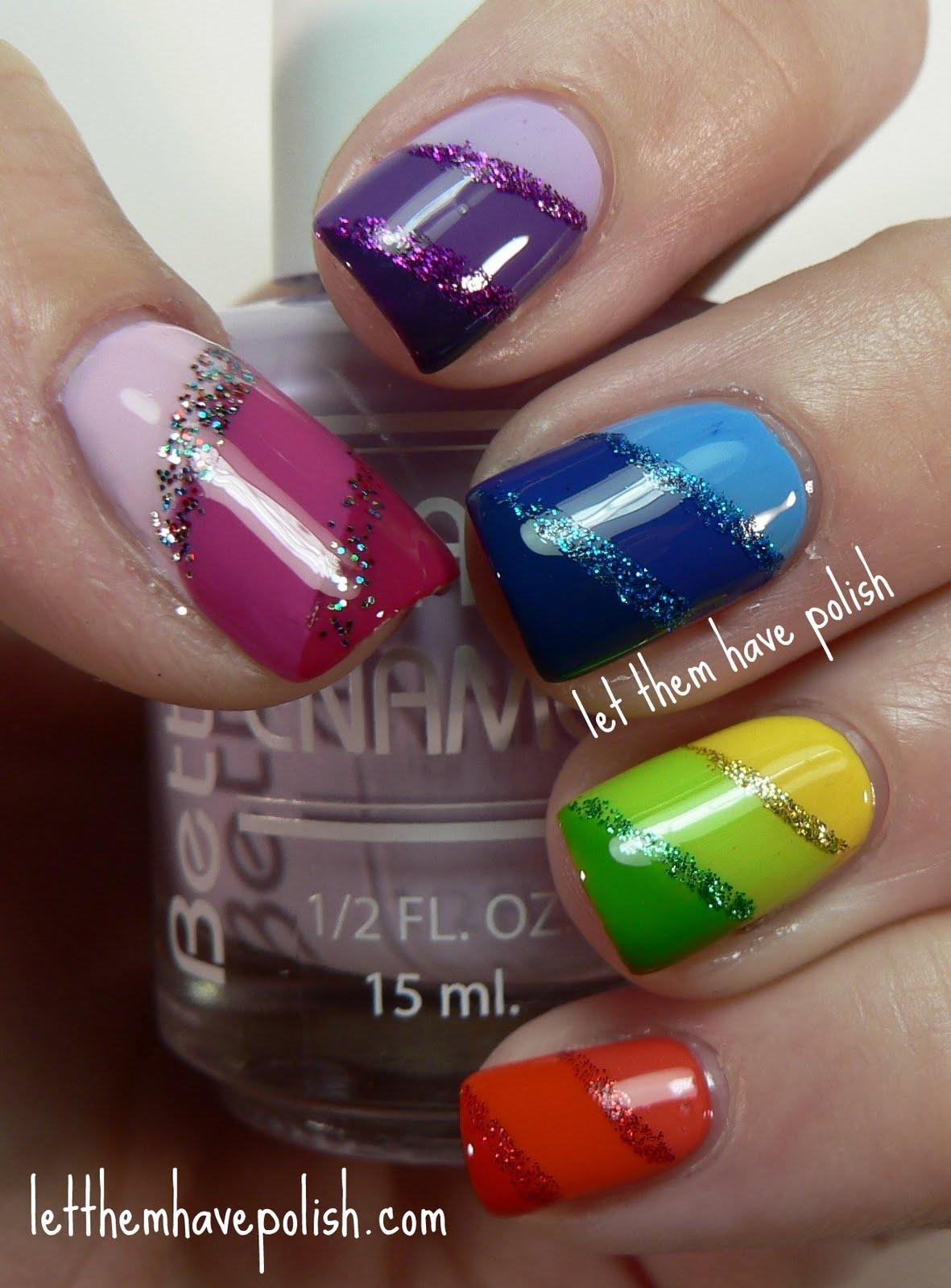 nail designs for gay pride ~ robin moses nail art rainbow nails