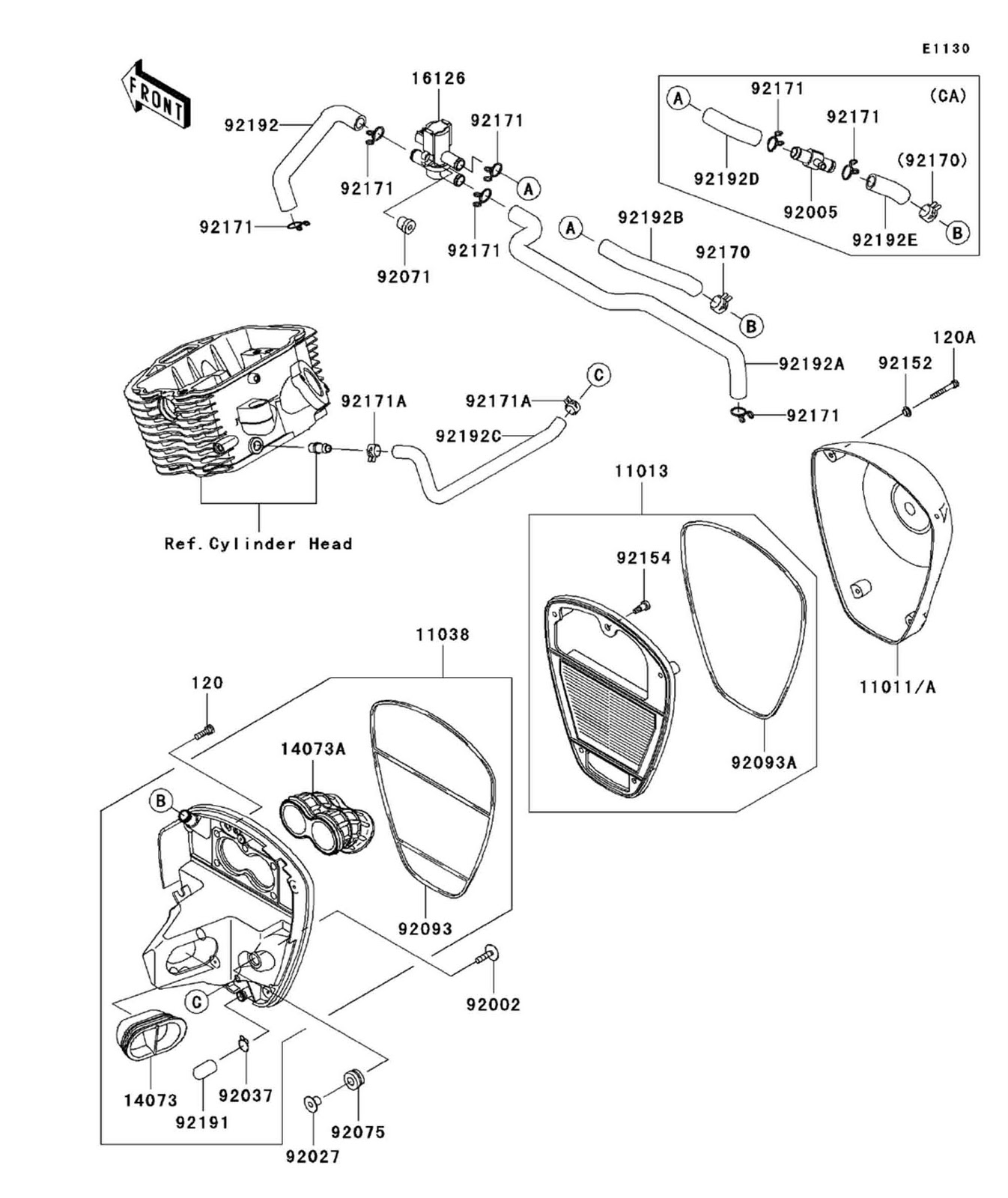 kawasaki 1 4 hp carburetor diagram  kawasaki  free engine image for user manual download