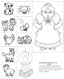Lucrative image pertaining to there was an old lady printable template