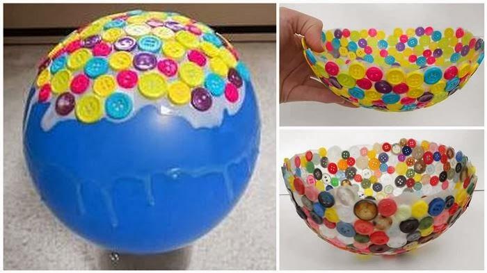 Bonito bowl hecho con botones manaulidades para decorar - Manualidades de botones ...