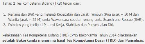 Pengumuman Kelulusan Hasil Seleksi TKB Psikotes CPNS Bakorkamla 2014