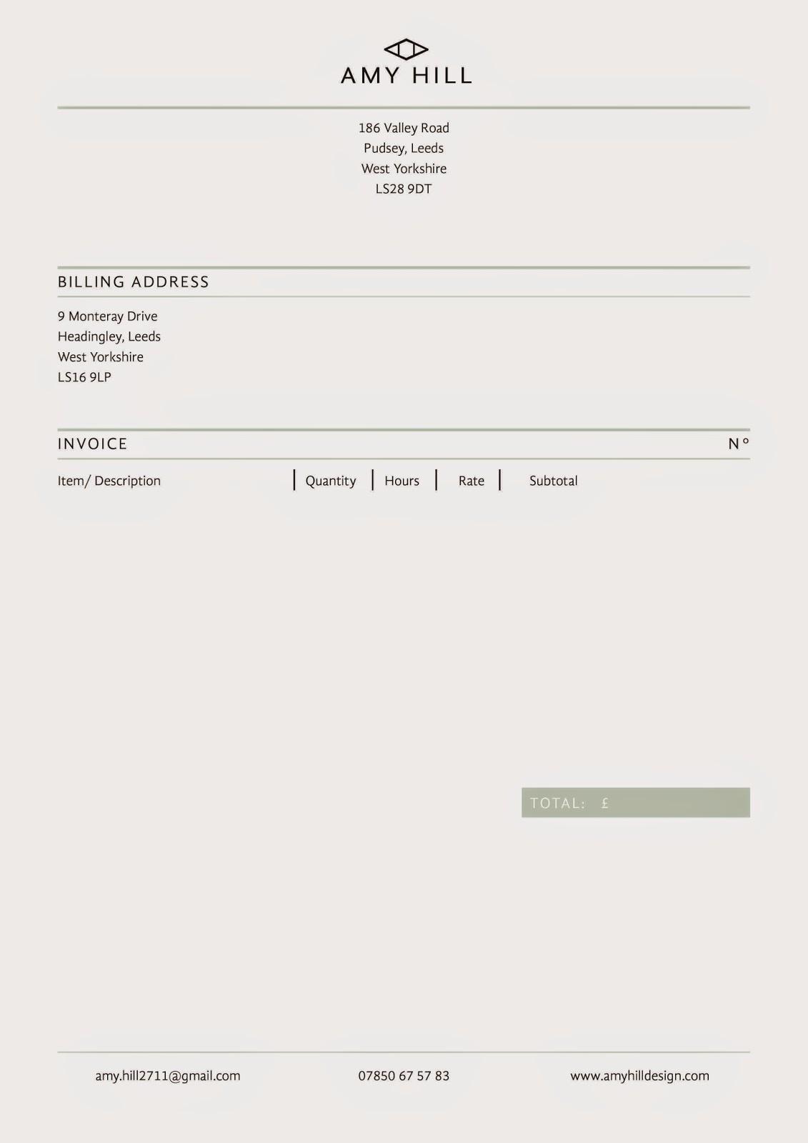 A Design Presence: CV, Letterhead And Invoice  Invoice Letterhead