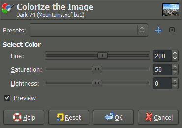 Pat David GIMP Luminosity Mask Tutorial Split Tone Colorize