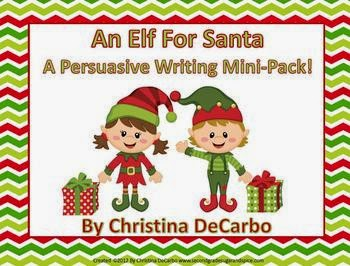 http://www.teacherspayteachers.com/Product/An-Elf-For-Santa-Persuasive-Writing-Mini-Pack-430298
