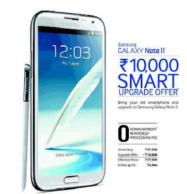 Samsung Galaxy Note II offer