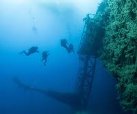 Scuba Divers on Zenobia in Cyprus next to deck