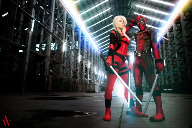 Cool Lady De... Lady Deadpool Cosplay Costume