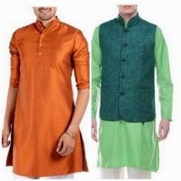 Buy Men's Kurta & Waist Coat at Flat 50% off + Extra 28 % + 20 % Cashback