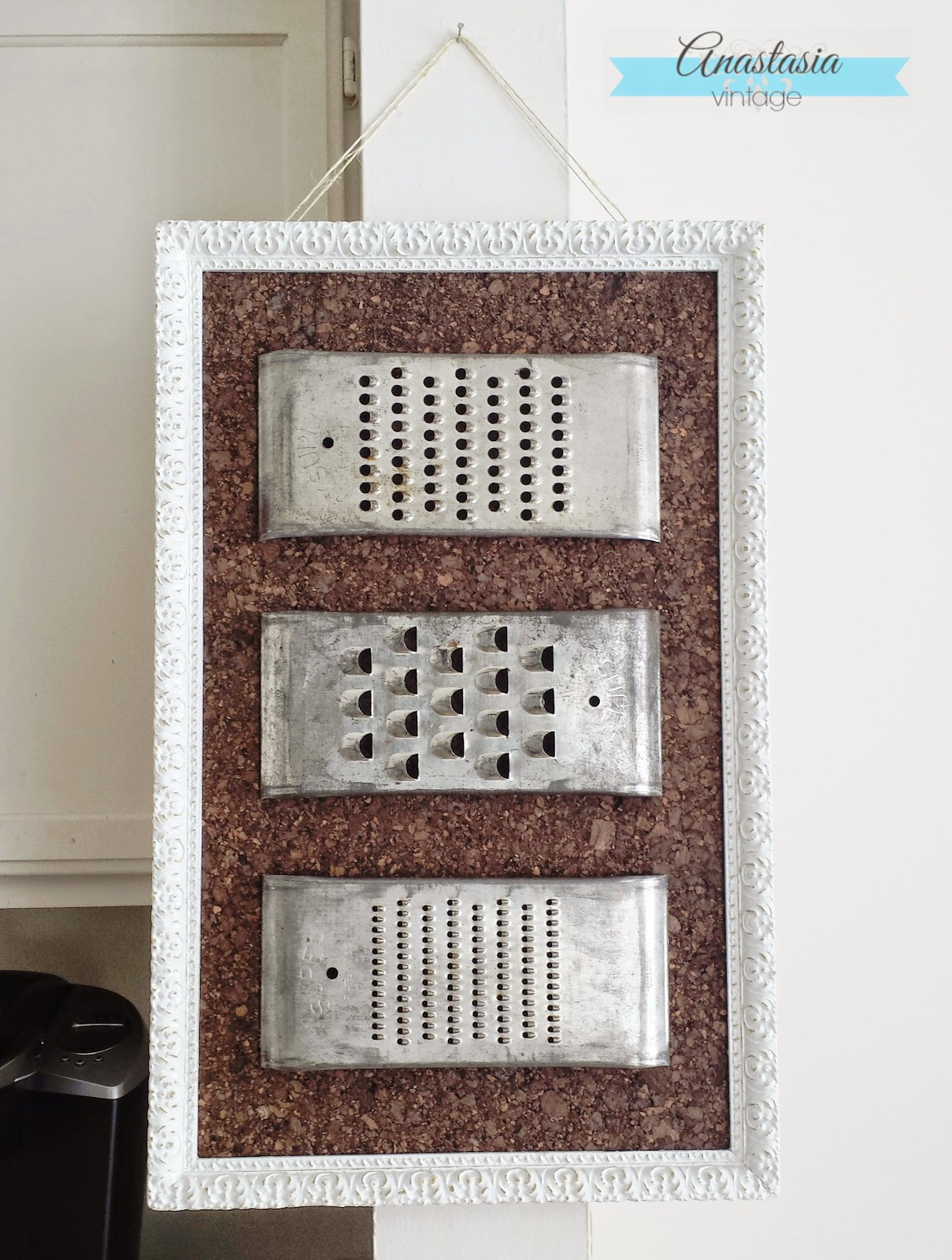 vintage grater memo board finished