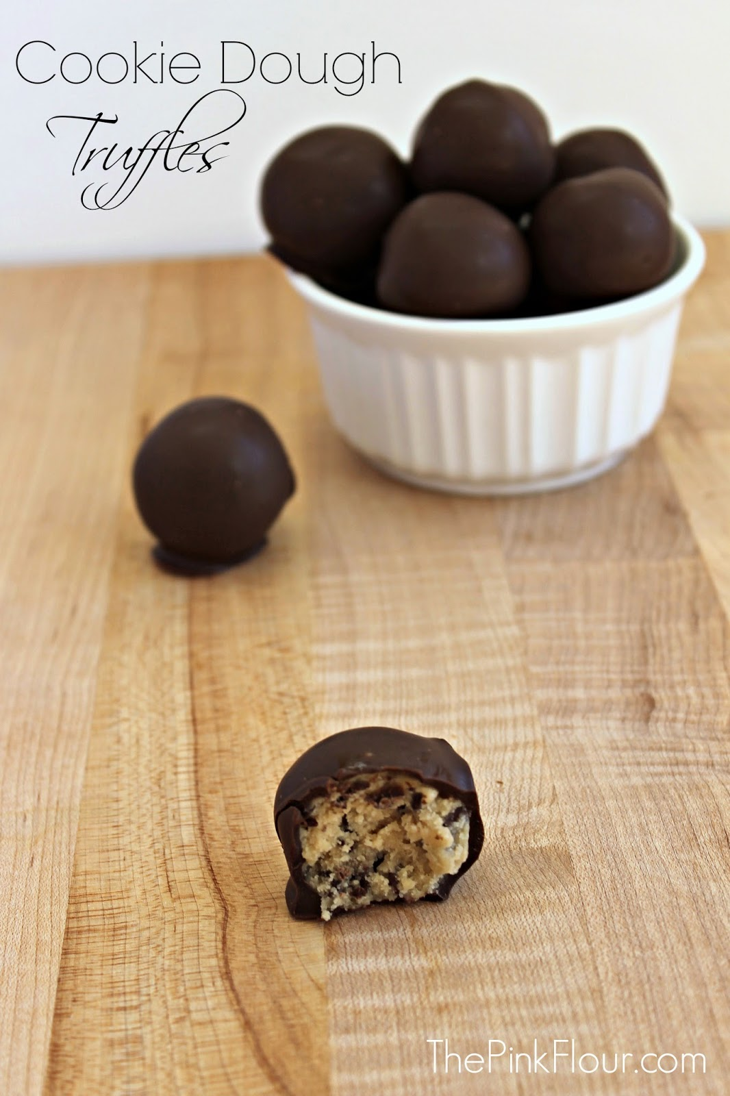 Cookie Dough Truffles - a quick and easy no-bake dessert that help you get your cookie dough fix without the eggs www.thepinkflour.com #cookie #dough #truffles #chocolate #dessert