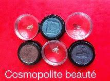 cosmopolite beauté, cosmopolitan beauty, Fards à paupière Mono bulles