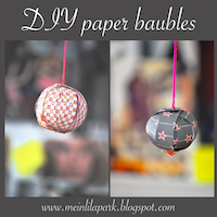 DIY paper baubles: