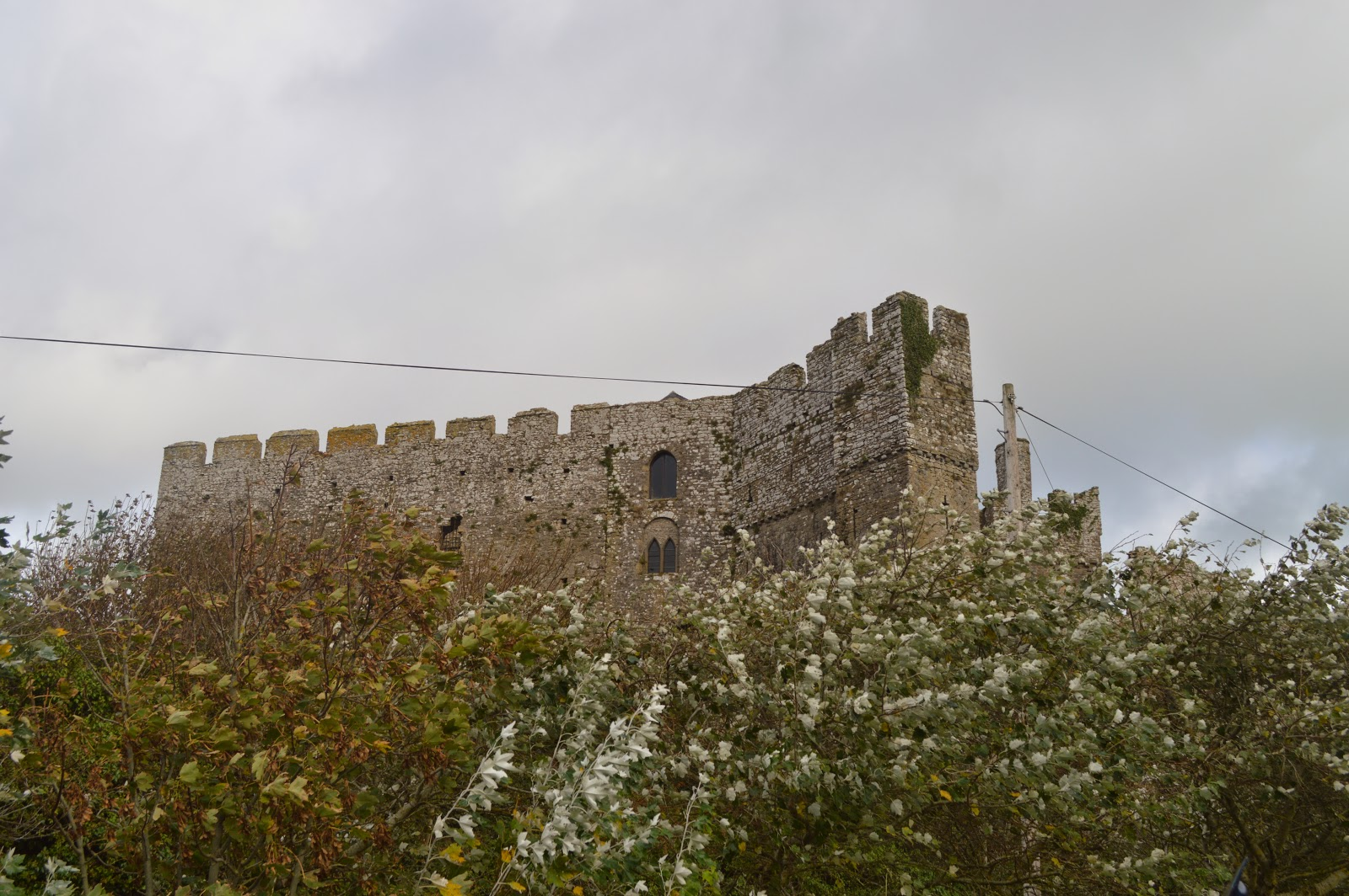 Manorbier Castle, Pembrokeshire, Wales