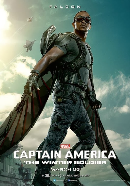 Captain America: The Winter Soldier Teaser Character Movie Poster - Anthony Mackie as The Falcon