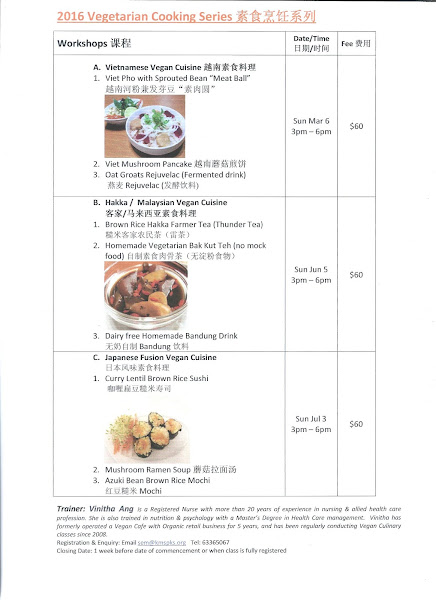 2016 New Vegan Culinary classes @ Awareness Place by Vinitha