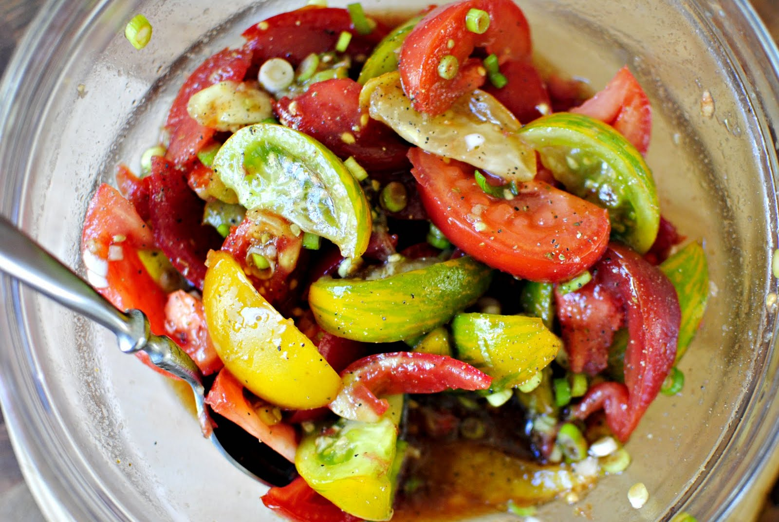 Simply Scratch Balsamic Heirloom Tomato Salad - Simply Scratch