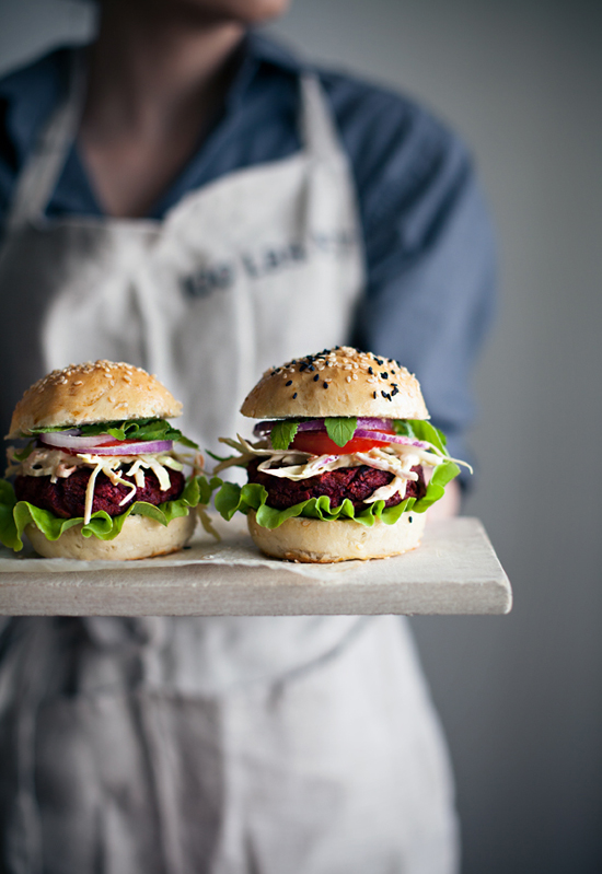 Veggie beet burgers with coleslaw recipe by @callmecupcake