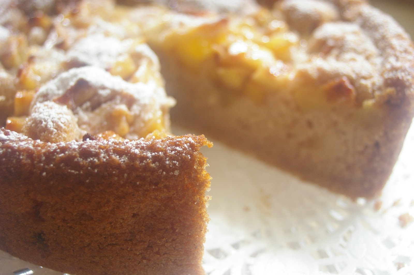 Domesblissity: Easy Apple Tea Cake (Dairy & Egg Free)