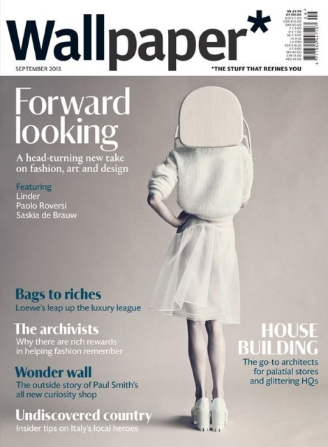 Saskia de Brauw covers Wallpaper September issue 2013