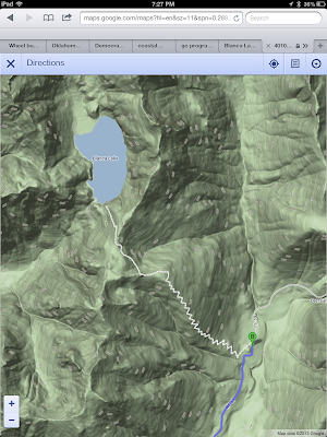 Topology Map Showing the Switchbacks in the Trail