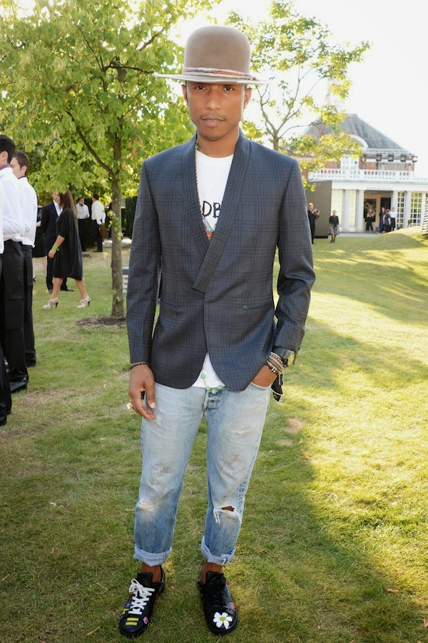 Pharrell Williams at Brioni Serpentine Gallery Summer Party 2014 London