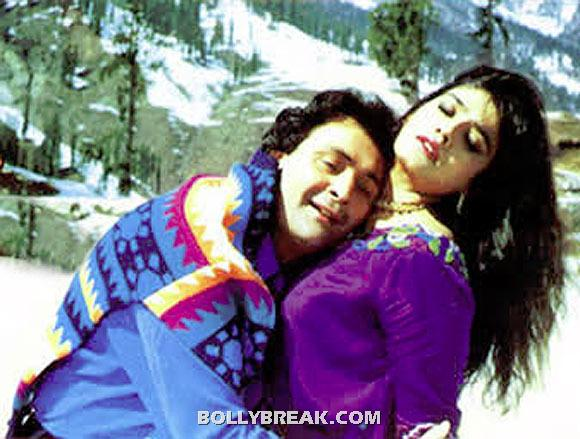 Old Rishi Kapoor and young Raveena Tandon - (16) - Old  heros and young heroines- Rowdy Rathore to gadar