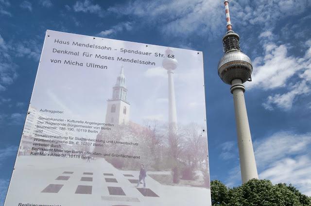 Baustelle Denkmal für Moses Mendelssohn, von Micha Ulm, Spandauer Straße 68, 10178 Berlin, 02.06.2015