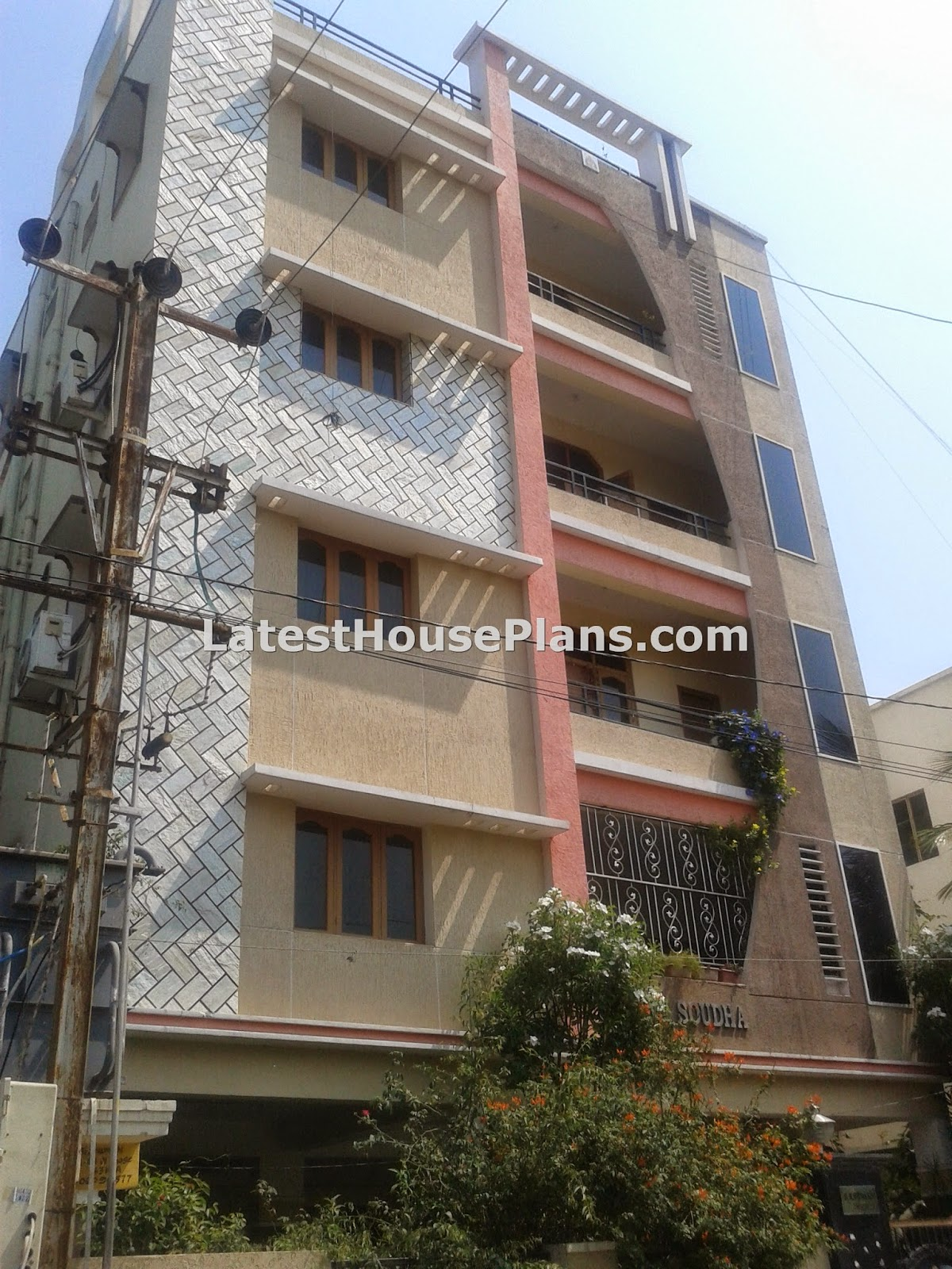 Beautiful apartment style 4 floor house elevation latest for Floor elevation