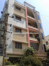 Apartment Three Floor House Elevation