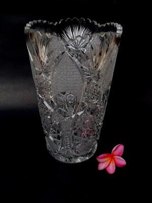 Vas Bunga Kristal (2) - BOHEMIA - | Barang Antik Klasik