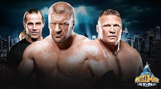 el inminente regreso de Brock Lesnar a la WWE en Wrestlemania trae consigo muchas sorpresas y triple h podría ser su próxima victima