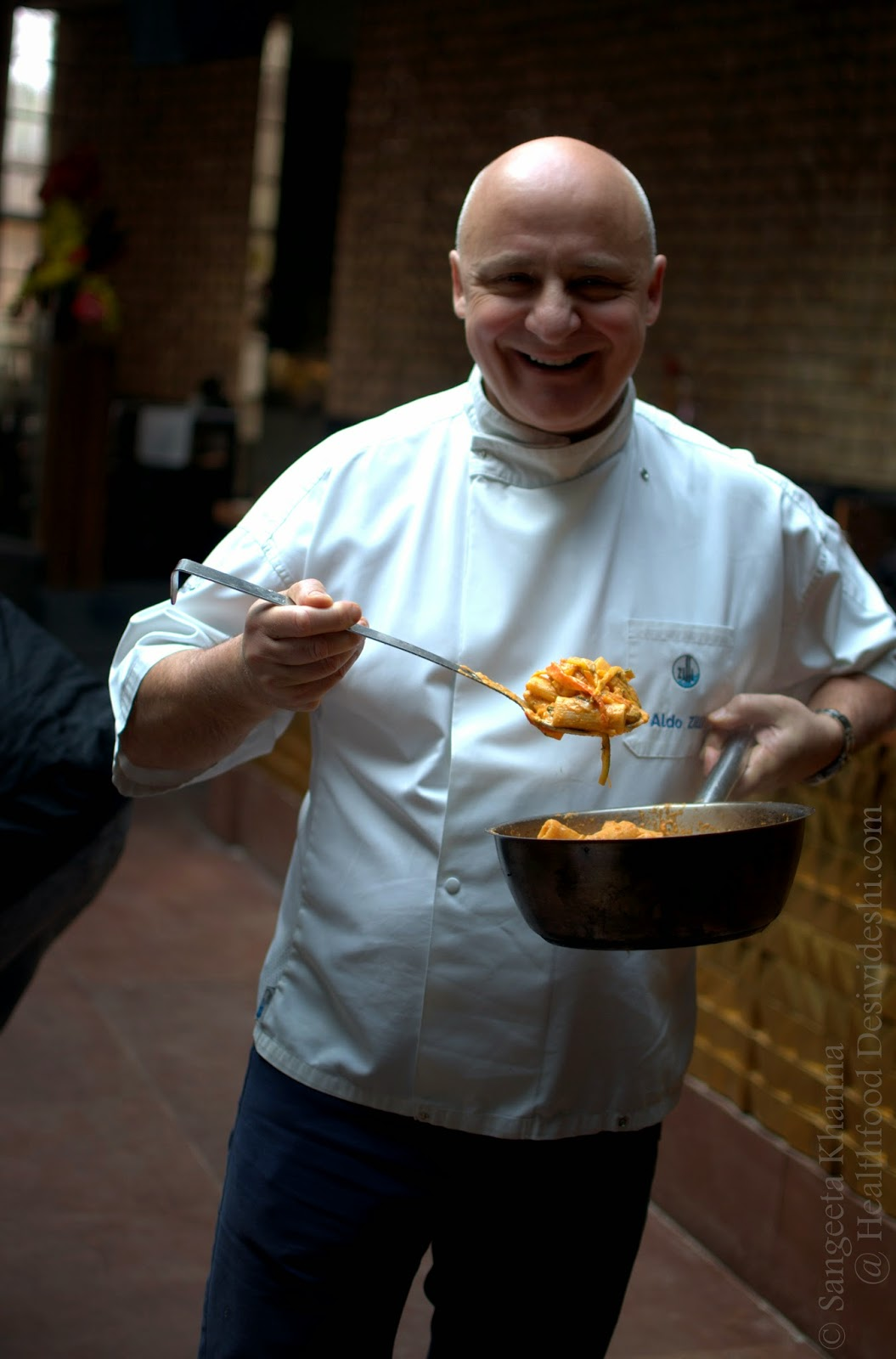 Chef Aldo Zilli at Zerruco by Zilli, a passionate Chef and how he eats healthy