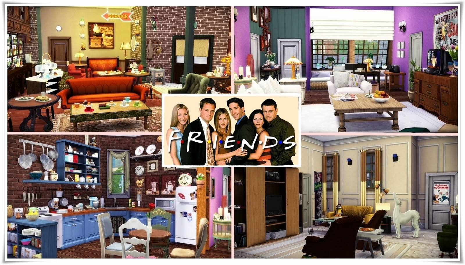 My sims 4 blog friends apartment building by frau engel for Deco appartement sims 4