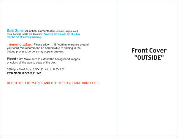 trifold brochure dimensions