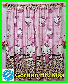 Gorden Karakter Kartun, Gorden Anak Motif Kartun Murah, Gorden Kartun Hello Kitty Murah, Gorden Motif Tokoh Kartun