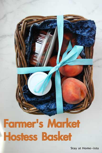 Farmer's Market Hostess Gift- peaches, honey, dried fruit and nuts