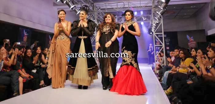 Designer Jaya Misra with Models