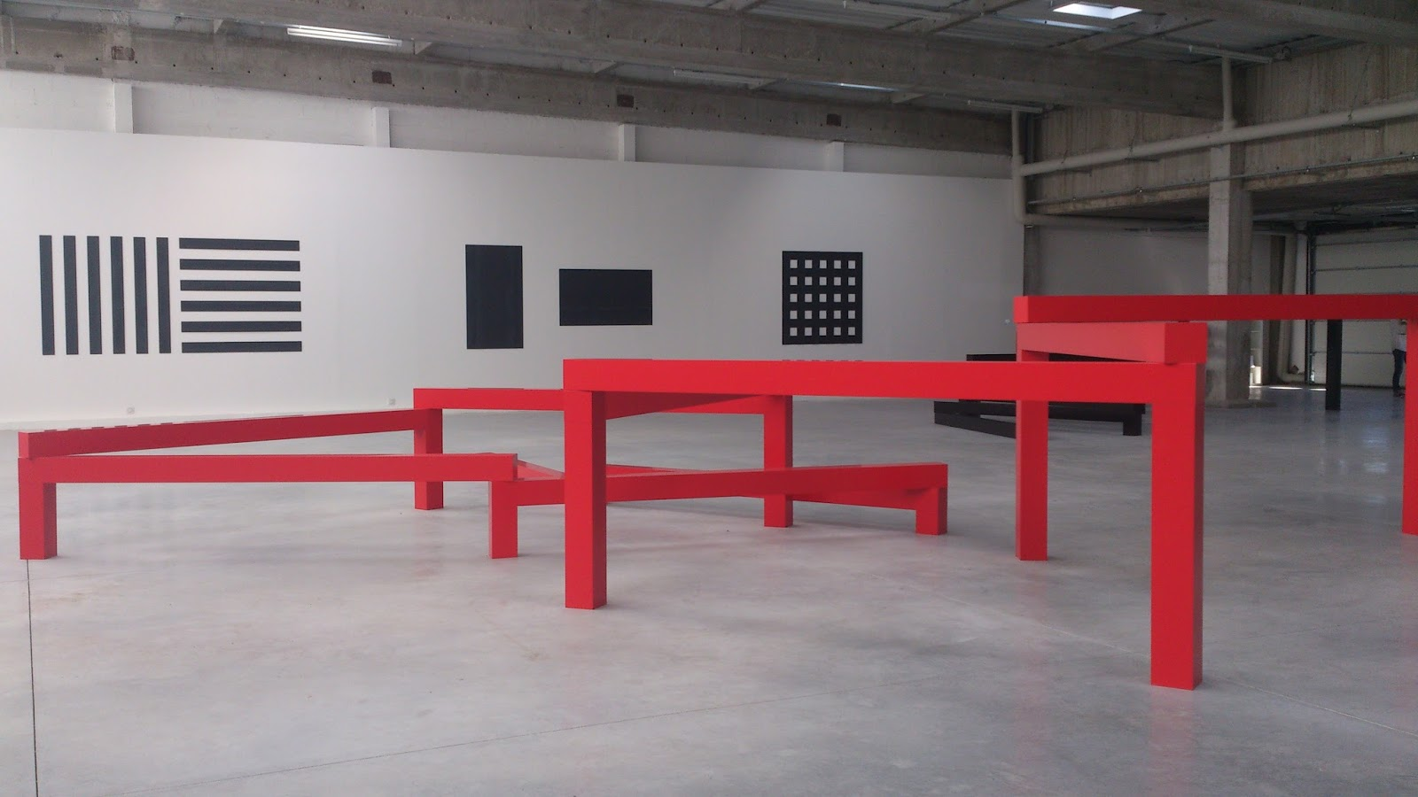 fran ois morellet 5x3 la regla del juego camilayelarte. Black Bedroom Furniture Sets. Home Design Ideas
