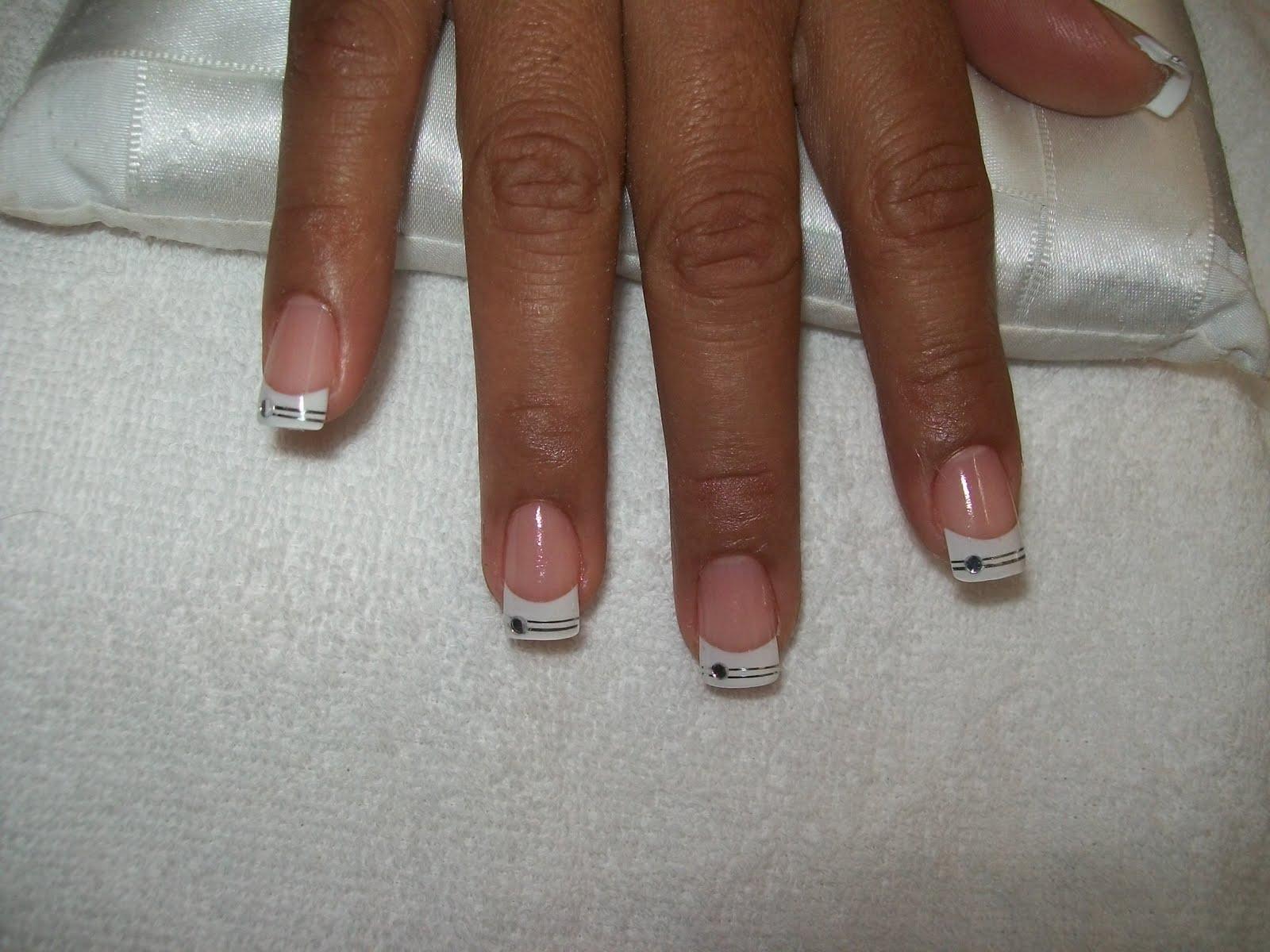 as unhas decoradas Faça sua Unha com ponta Francês