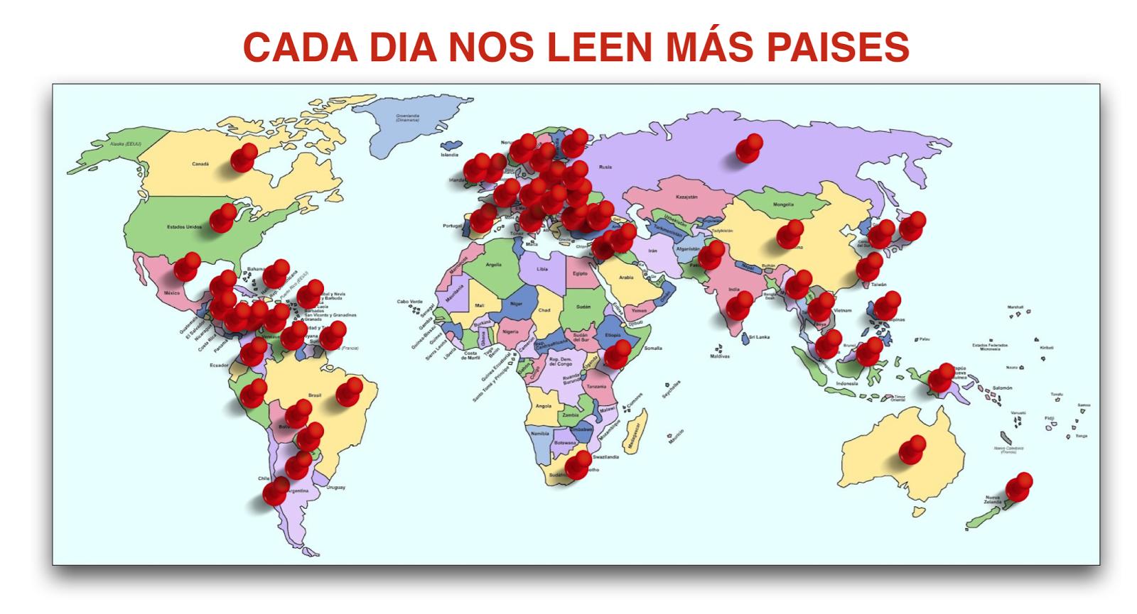 Mapa Mundi de nuestros lectores