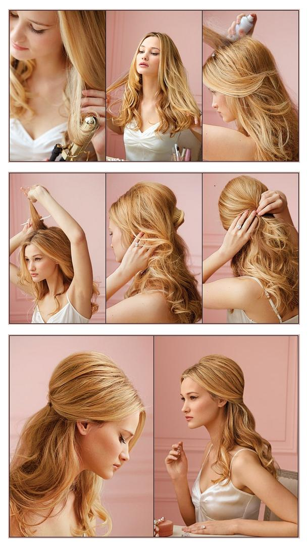 New Short Hair Styles Make A Half Up Do For Your Hair