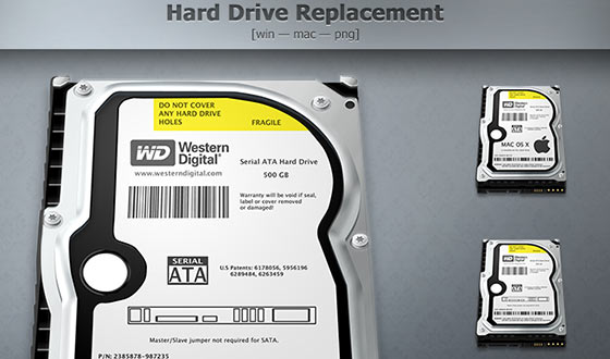 Free Hard Drive Replacement Icons Sets