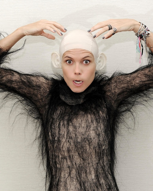 Heidi Klum, Halloween costume 2011, monkey suit