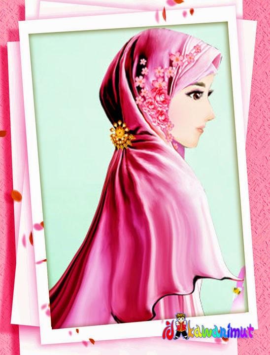 Gambar Animasi Muslimah