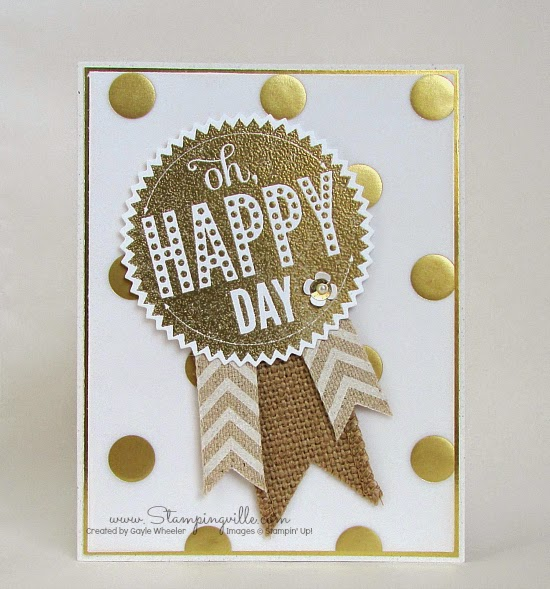 Special occasion card with gold embossed vellum | Stampingville #cardmaking #papercrafts #StampinUp