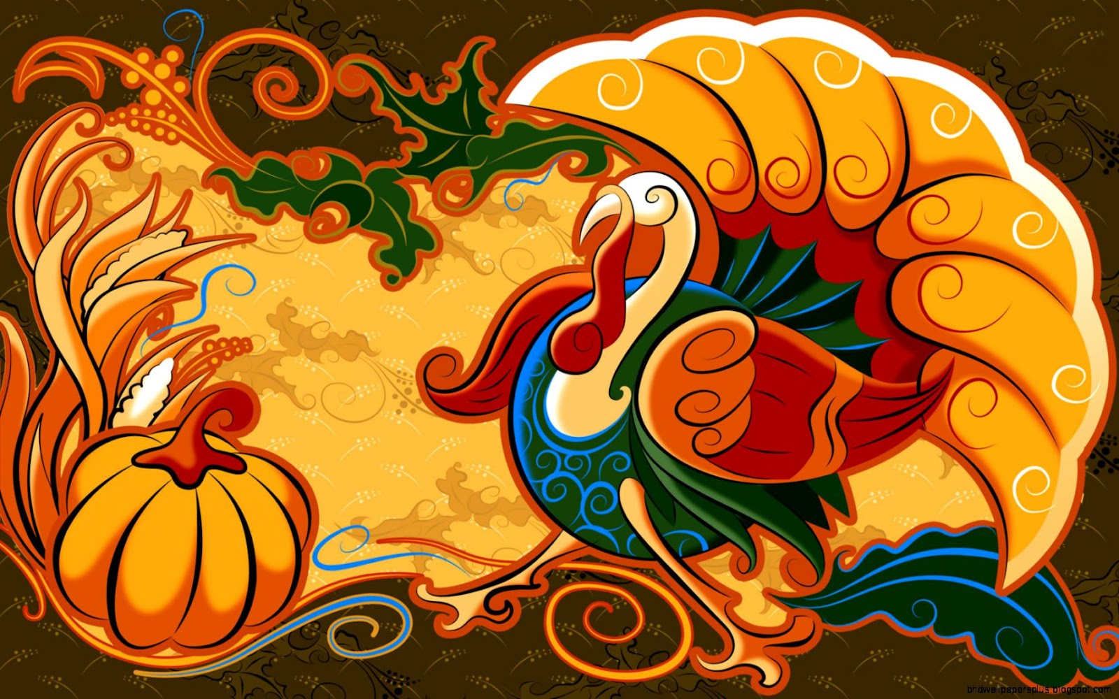 Cute Thanksgiving Turkey Wallpaper